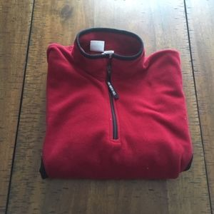 North Face Red and Black fleece